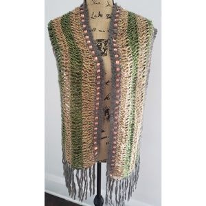 URBAN OUTFITTERS Boho Glitter Ribbon Woven Scarf